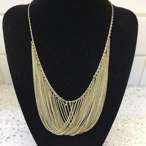 """Draped vintage silver-toned chain necklace 16"""""""